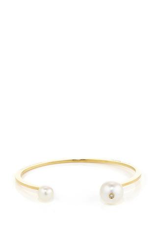 Medium delfina delettrez gold gold pearl piercing bracelet