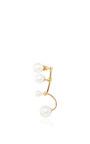 Gold Multi Pearl Earring  by DELFINA DELETTREZ Now Available on Moda Operandi