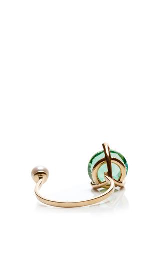 18 K Gold, Topaz And Diamond Magic Triangle Ring by DELFINA DELETTREZ Now Available on Moda Operandi