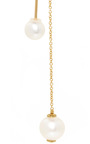 Gold Fishing For Compliments Pearl Drop Earring  by DELFINA DELETTREZ Now Available on Moda Operandi