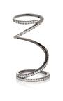 Gunmetal Pavé Ribbon Ring by FALLON Now Available on Moda Operandi