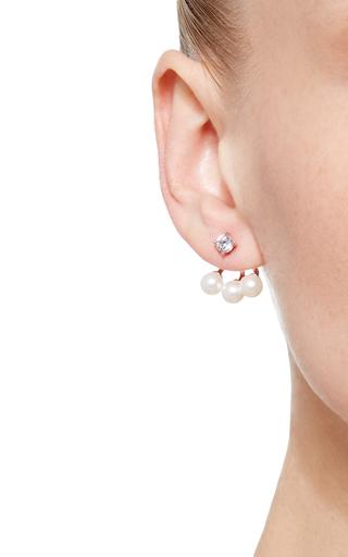 Triple Pearl Ear Jackets  by FALLON Now Available on Moda Operandi