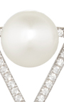 Pave Pearl And Triangle Earrings by FALLON Now Available on Moda Operandi