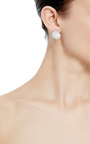 Pearl And Cubic Zirconia Cluster Marquis Stud Earrings by FALLON Now Available on Moda Operandi