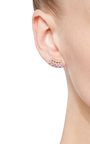 Curved Marquis Bar Earrings by FALLON Now Available on Moda Operandi