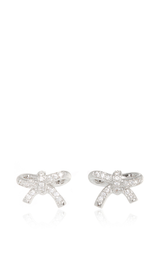 Forget Me Knot Convertible Pearl Earrings by FALLON Now Available on Moda Operandi