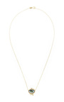 Gold, Diamond And Sapphire Teardrop Necklace With Icicles by LITO Now Available on Moda Operandi
