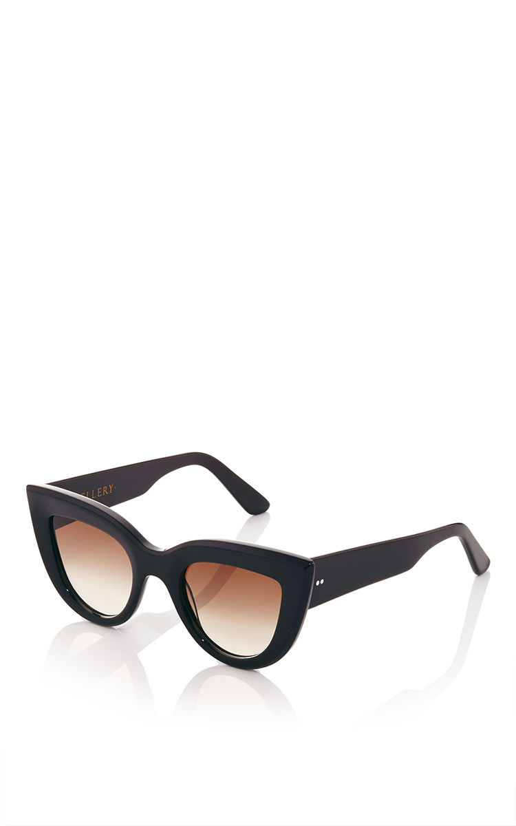 a27d8729147 Black Quixote Cat Eye Sunglasses by Ellery