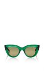 Green Quixote Cat Eye Sunglasses by ELLERY Now Available on Moda Operandi