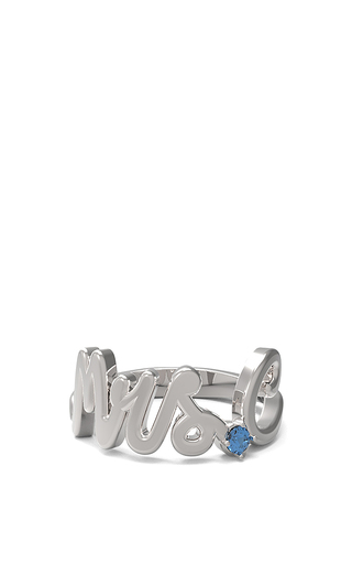 Medium alison lou silver alison lou customizable sapphire mrs ring