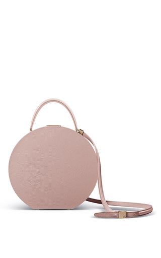 Medium bu wood pink bumi 26cm top handle in rose calf leather