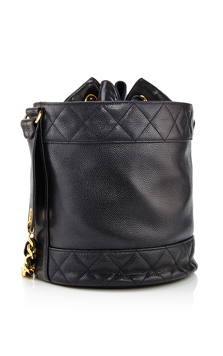 be27e3512167 What Goes Around Comes AroundChanel Black Caviar Quilted Border Bucket Bag.  CLOSE. Loading. Loading