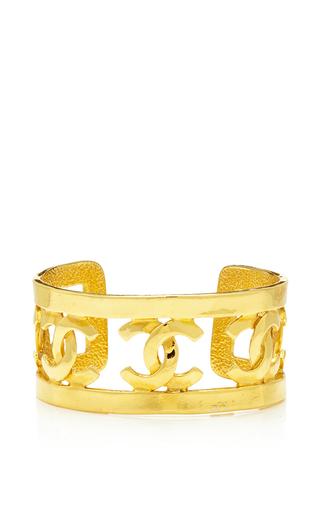Medium what goes around comes around gold chanel cc border cuff