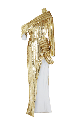 Medium maticevski gold m o exclusive commodity gown