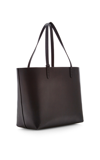 Vegetable Tanned Large Tote In Black With Flamma by MANSUR GAVRIEL Now Available on Moda Operandi