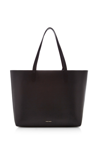 Medium mansur gavriel black vegetable tanned large tote in black with flamma
