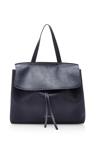 Medium mansur gavriel blue blue calf leather lady bag