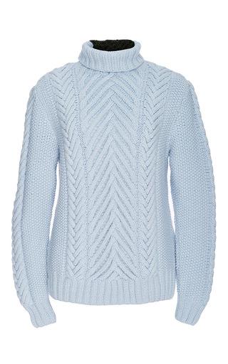 Medium orley light blue light blue chevron stitch turtleneck