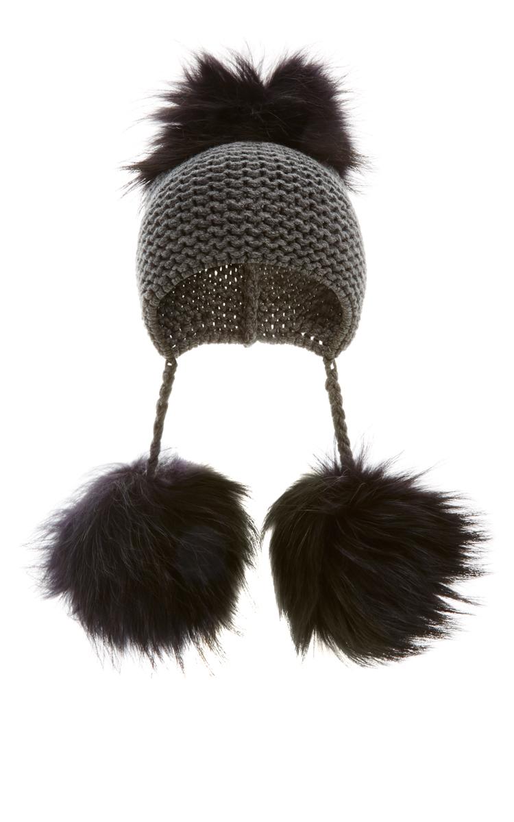 raccoon fur pom pom beanie inverni X0MZ1NYl