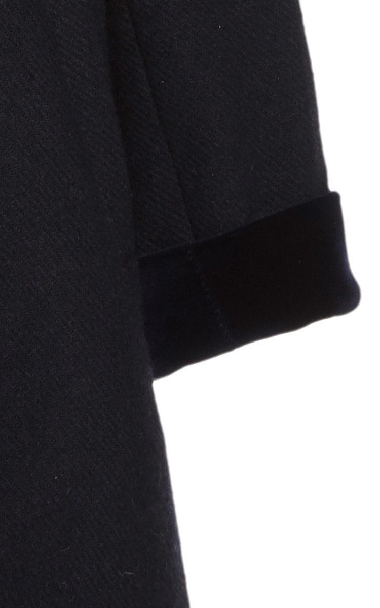 Girls Navy Wool Button Down Coat by Oscar de la Renta | Moda Operandi