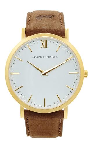 Medium larsson jennings multi lader brown watch