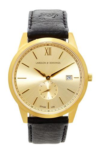 Medium larsson jennings multi saxon gold black watch