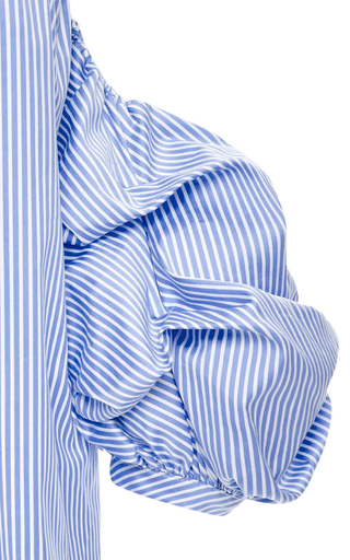 Cotton Striped Off The Shoulder Tulum Top by JOHANNA ORTIZ Now Available on Moda Operandi