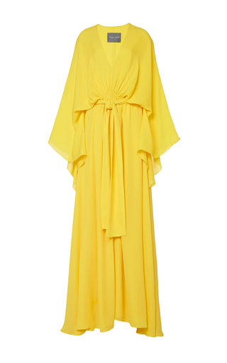 Medium monique lhuillier yellow m o exclusive v neck caftan
