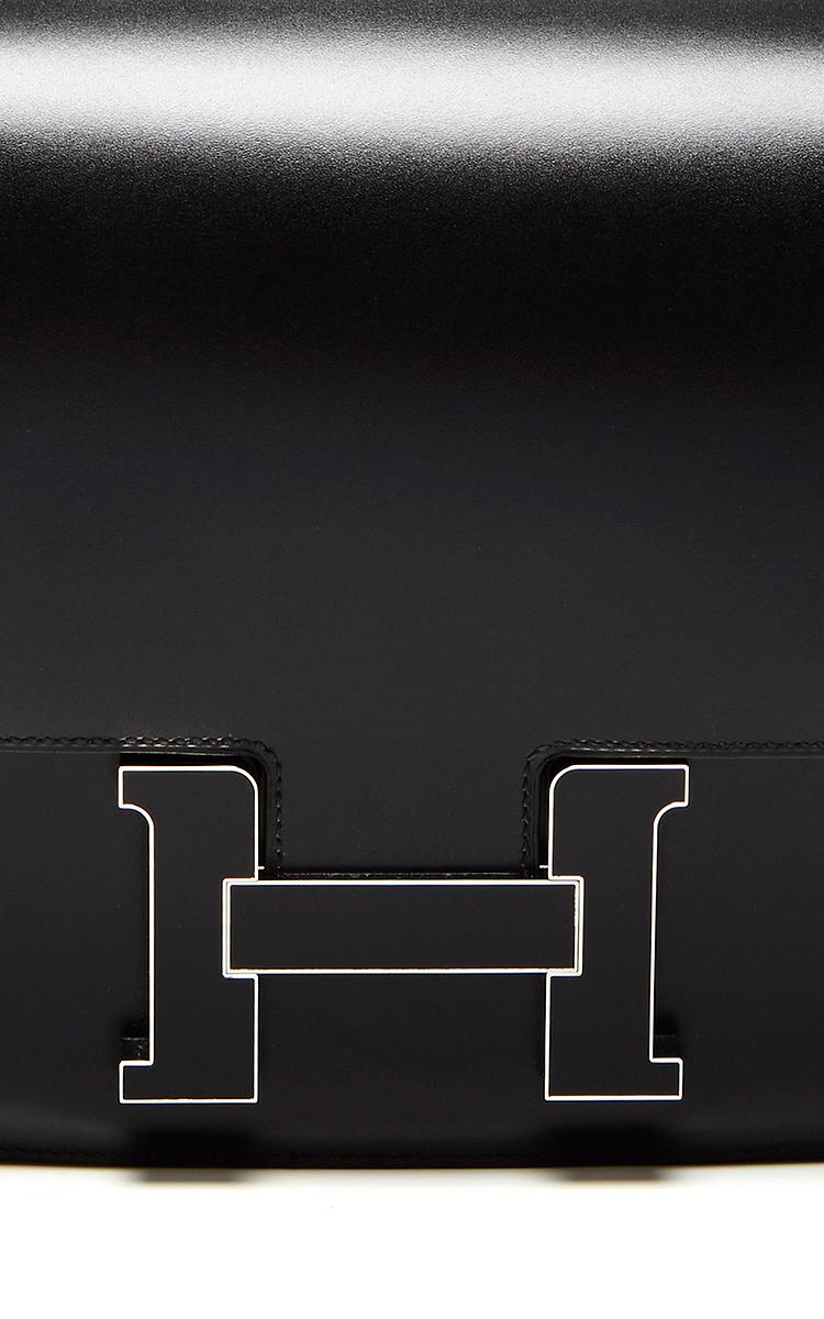 c2da0fbb99d2 Hermes 29cm Black Calf Box Constance Cartable by