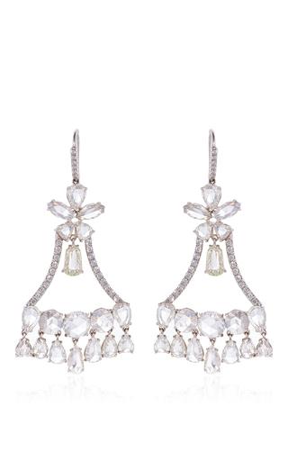 Nina Runsdorf Rose Cut Diamond Chandelier Earrings by | Moda Operandi
