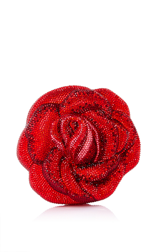 Medium judith leiber red judith leiber american beauty new rose clutch