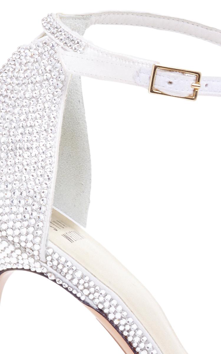 4c7f78bb8bd Stuart WeitzmanStuart Weitzman Pave Nudist Sandal in Silver. CLOSE. Loading.  Loading. Loading. Loading