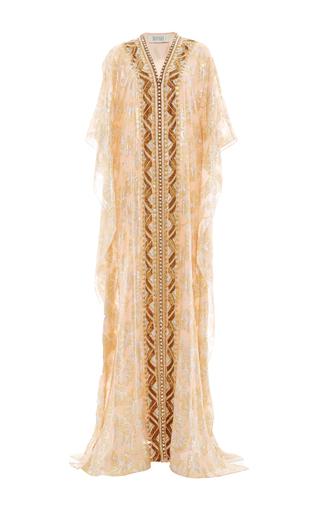 Medium badgley mischka gold geometric embroidered caftan