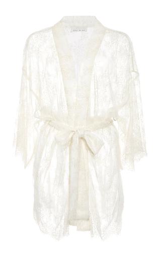 Medium fleur du mal ivory beaded lace kimono