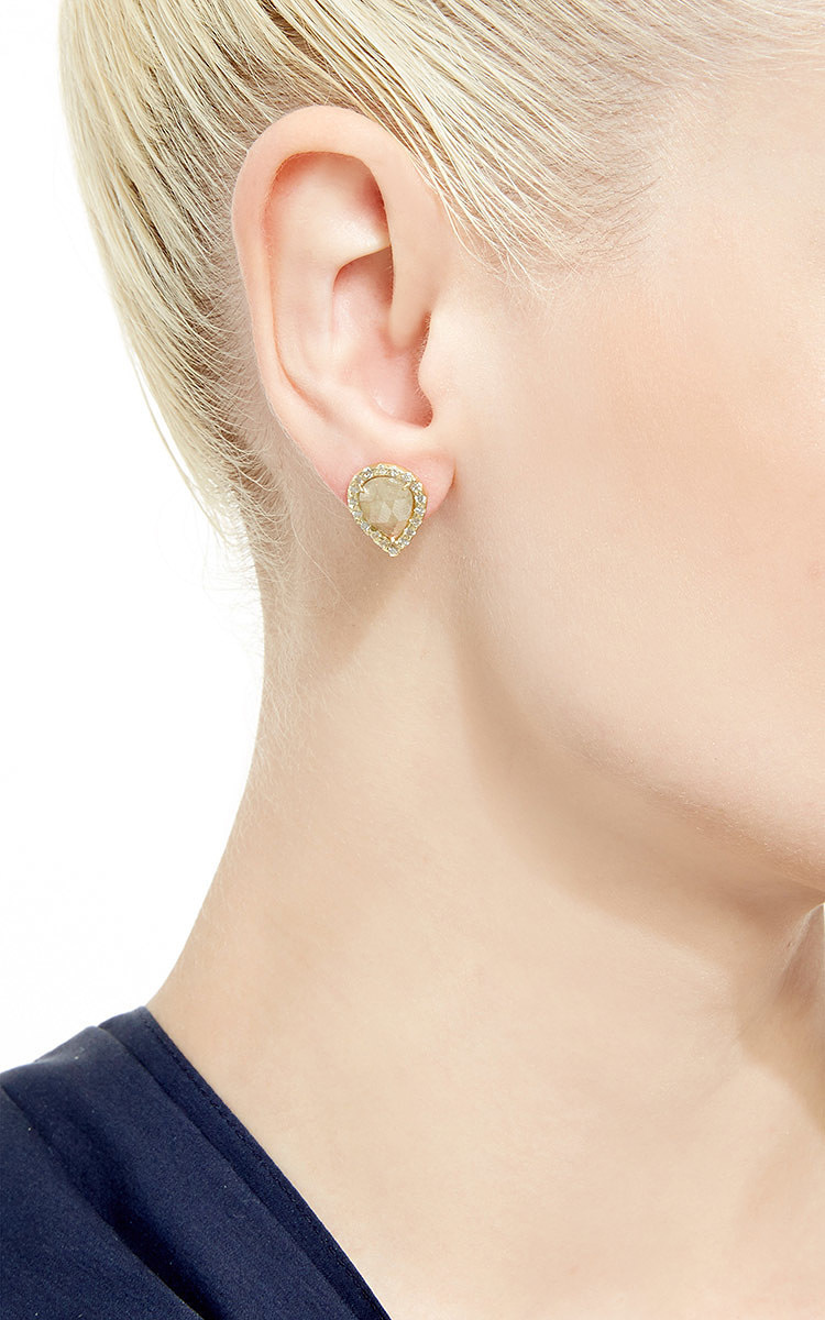 shaped earrings miglio diamond rose plating gold stud statement in pin geometric