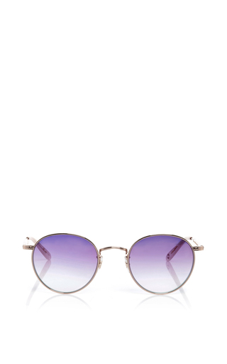 Medium garrett leight pink rose gold wilson metal sunglasses
