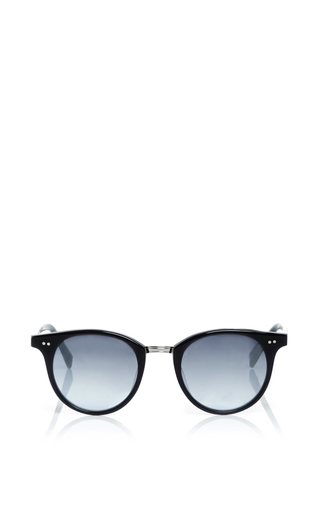 Medium garrett leight navy garret leight x mark mcnairy black acetate pinehurst sunglasses