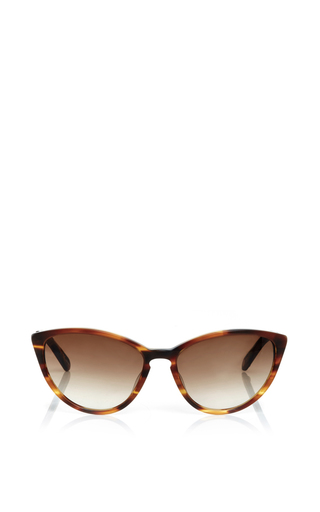 Medium garrett leight brown lucille tortoiseshell sunglasses