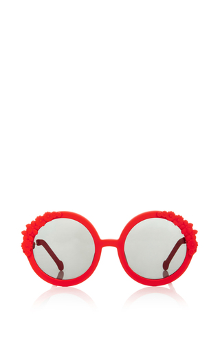 Medium preen red red bouquet circular sunglasses