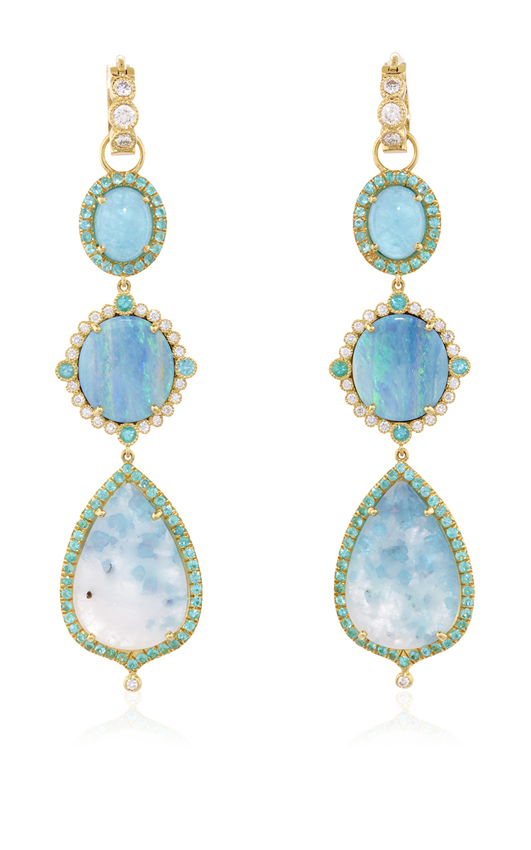 one of a paraiba and opal drop earrings and moda
