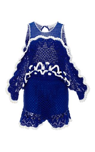 Medium alice mccall blue blue she s royal crocheted playsuit