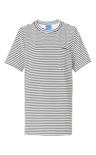 Medium macgraw print stripe trail tee