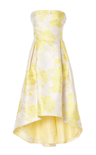 Medium carla zampatti yellow modern day princess strapless gown