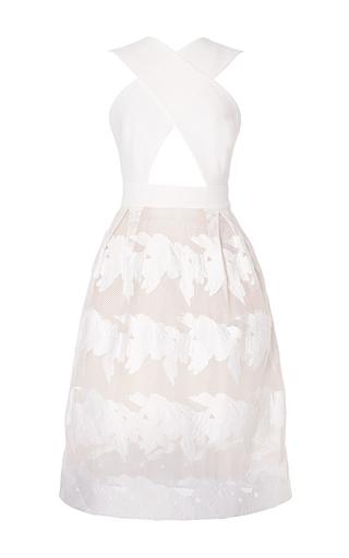 Medium carla zampatti white cross your heart dress