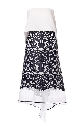 Medium carla zampatti white filigree lace strapless dress