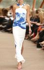 Blue Bouquet Dress by CARLA ZAMPATTI Now Available on Moda Operandi