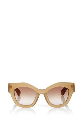 Medium jonathan saunders tan dana cat eye sunglasses
