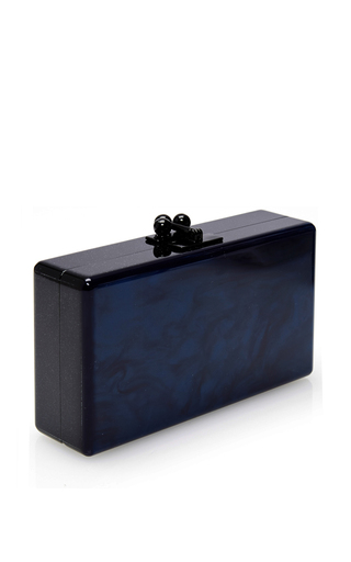 Blue Jean Ribbon Solid Clutch by EDIE PARKER Now Available on Moda Operandi