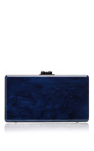 Medium edie parker blue blue jean ribbon solid clutch