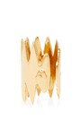 Carnivore Gold Ear Cuff With Double Thorns by ANNELISE MICHELSON Now Available on Moda Operandi